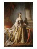 Portrait of Queen Charlotte, Full Length in Robes of State Giclee Print by John Ramsay