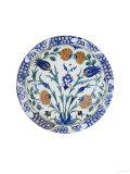 An Iznik Pottery Dish with Tulip and Peony Design, circa 1575 Print