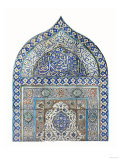An Important Diyarbekir Tile Mihrab of Ogival Arched Form Comprising Twelve Tiles, circa 1570 Art