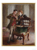A Drawing Room Scene with an Imposing Open Armchair Poster by Frederick Walker