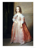 Portrait of Mary, Princess Royal (1631-1660) Giclee Print by Sir Anthony Van Dyck