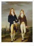 Portrait of Two et on Schoolboys, et on Chapel Beyond Reproduction proc&#233;d&#233; gicl&#233;e par Francis Alleyne