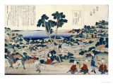 Ordnance Survey of Countryside, circa 1848 Giclee Print by Katsushika Hokusai