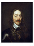 Portrait of King Charles I, Bust Length, Wearing Armour and the Collar of the Order of the Garter Giclee Print by William Dobson