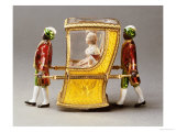 Automaton Sedan Chair with a Figure of Catherine the Great, Signed Faberge, 1908-1917 Reproduction procédé giclée par Carl Faberge