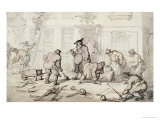 Labourers Putting Down a Pavement Prints by Thomas Rowlandson