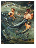 Mermaids in the Deep, 1882 Posters by Edward Burne-Jones