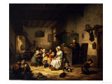 The School Room, 1847 Posters by Basile De Loose