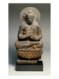 A Gandhara Grey Schist Figure of Buddha, 2nd Century Prints