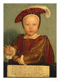 Portrait of Edward Prince of Wales, Later Edward VI, as a Child Giclee Print by Hans Holbein the Younger