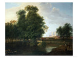 A View of Westminster Abbey, from Rosamund's Pond, St. James's Park Giclee Print by John Inigo Richards