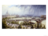 St Paul's from Waterloo Bridge Giclee Print by Auguste Ballin
