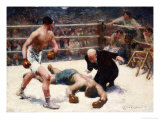 The Knock Out Premium Giclee Print by Claude Charles Bourgonnier