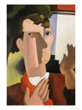Man with a Red Scarf, 1922 Giclee Print by Roger de La Fresnaye