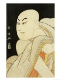 Okubi-E Portrait of the Actor Sawamura Sojuro III in the Role of Taira No Kiyomori Giclee Print by Kunimasa