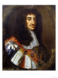Portrait of King Charles II, Wearing Garter Robes Giclee Print by Sir Peter Lely