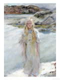 At the Waters Edge Giclee Print by Christian Krohg