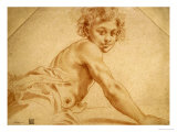 A Boy Looking Over His Shoulder Prints by Annibale Carracci