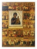 Icon of the Mother of God Tikhvinskaia, Central Russia, First Half of the 17th Century Prints