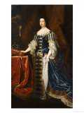Portrait of Queen Mary in State Robes Posters by Godfrey Kneller