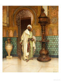 An Arab in a Palace Interior Poster by Rudolph Ernst