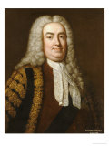 Portrait of Sir Robert Walpole, 1st Earl of Orford (1676-1745) Gicl&#233;e-Druck von Jean Baptiste Van Loo