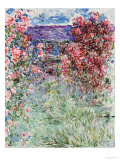 The House in the Roses, 1925 Poster by Claude Monet