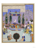The Houghton Shahnameh: Folio 513v, an Aging Firdowsi Eulogizes Sultan Mahmud Giclee Print