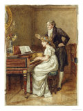The Music Master Print by George Goodwin Kilburne