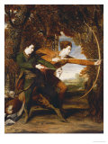 The Archers: a Double Portrait of Colonel John Dyke Acland and Thomas Townsend, 1769 Prints by Joshua Reynolds