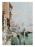 The Grand Canal, Venice Premium Giclee Print by Franz Richard Unterberger