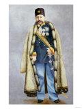 Portrait of Muzaffar Al-Din Shah Qajar Print