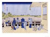 Sazai Hall of Five-Hundred-Rakan Temple Kunst von Katsushika Hokusai