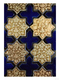A Panel of Kashan Lustre Stellar and Cobalt Cruciform Tiles, 13th Century Art