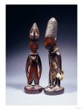 Yoruba Female and Male Ibeji Figures Giclee Print