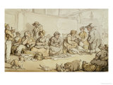 The Fish Market, Grimsby Prints by Thomas Rowlandson
