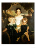 The Bromley Children, 1843 Prints by Ford Maddox Brown