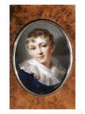 A Birchwood Box, the Cover Set with a Portrait of Tsar Alexander I as a Child, Late 18th Century Pósters