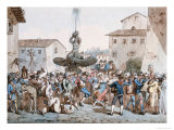 Carnevale a Roma, 1816 Giclee Print by Bartolomeo Pinelli