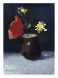 A Pitcher of Flowers Giclee Print by Odilon Redon