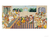 Musicians and Dancing Girls Perform Before Sher Singh, 1874 Giclee Print by Bishan Singh