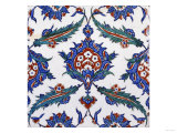 Two Iznik Pottery Tiles Giclee Print