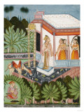 The Elopement of Dhola and Maru, Bundi circa 1750 Giclee Print