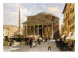 The Pantheon, Rome Giclee Print by Veronika Mario Herwegen-manini
