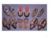 A Selection of American Indian Moccasins Premium Giclee Print