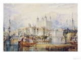 The Tower of London, circa 1825 Giclée-tryk af William Turner