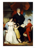 Group Portrait of the Hudson Family Giclee Print by William Owen