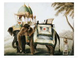 Elephants with Their Mahouts, Company School, circa 1815 Giclee Print