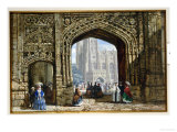 Canterbury Cathedral Giclee Print by Louise J. Rayner
