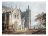The North Porch of Salisbury Cathedral, circa 1796 Prints by William Turner